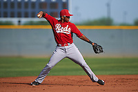 Cincinnati Reds Leandro Santana (51) during an instructional league game against the Cleveland Indians on October 17, 2015 at the Goodyear Ballpark Complex in Goodyear, Arizona.  (Mike Janes/Four Seam Images)