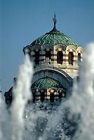 Bulgarien, Pleven, Mausoleum für russische und rumänische Soldaten, Brunnen