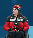 Pyeongchang, Korea, 17/3/2018--Ina Forrest competes in the bronze medal game of wheelchair curling during the 2018 Paralympic Games. Photo: Scott Grant/Canadian Paralympic Committee.
