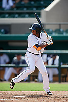 Detroit Tigers Isrrael De La Cruz (68) at bat during a Florida Instructional League game against the Pittsburgh Pirates on October 6, 2018 at Joker Marchant Stadium in Lakeland, Florida.  (Mike Janes/Four Seam Images)