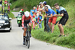 Alberto Contador (ESP) Trek-Segafredo in action during Stage 4 of the Criterium du Dauphine 2017, an individual time trial running 23.5km from La Tour-du-Pin to Bourgoin-Jallieu, France. 7th June 2017. <br /> Picture: ASO/A.Broadway | Cyclefile<br /> <br /> <br /> All photos usage must carry mandatory copyright credit (&copy; Cyclefile | ASO/A.Broadway)