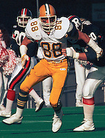 Tom Tuinei Edmonton Eskimos 1987. Photo Scott Grant