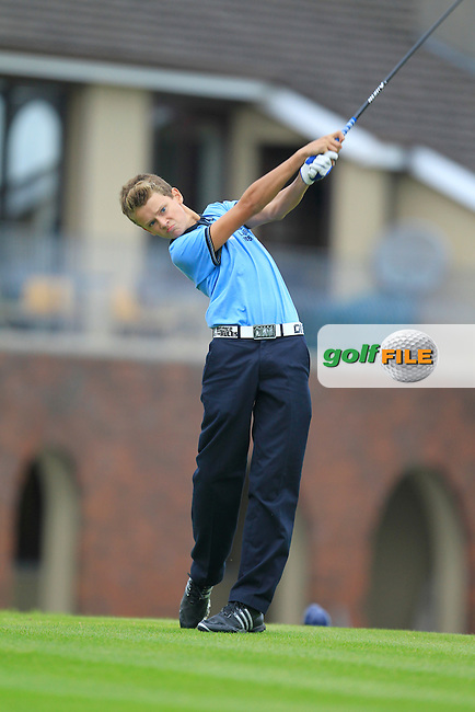 Albert Dolan (Loughrea) on the 1st tee during the Irish Boys Under 15 Amateur Open Championship Round 2 at the West Waterford Golf Club on Tuesday 20th August 2013 <br /> Picture:  Thos Caffrey/ www.golffile.ie