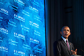 United States President Barack Obama speaks at the U.S.-Africa Business Forum at the Plaza Hotel, September 21, 2016 in New York City. The forum is focused on trade and investment opportunities on the African continent for African heads of government and American business leaders. <br /> Credit: Drew Angerer / Pool via CNP