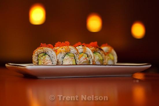 Trent Nelson  |  The Salt Lake Tribune.The Baked Halibut Roll at Hi Sushi, Friday, March 11, 2011 in Salt Lake City, Utah.