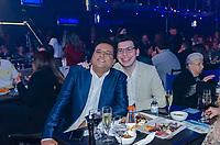 SAO PAULO, SP, 04.09.2019 - SHOW-SP - Geraldo Luís, apresentador e João Pedro, seu filho durante show do cantor Roberto Carlos na noite desta quarta-feira. 04, no Espaço das Américas, zona oeste de São Paulo. (Foto: Anderson Lira/Brazil Photo Press/Folhapress)