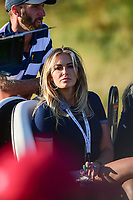 Paulina Gretzky was on hand to watch her fiance Dustin Johnson (USA) during round 1 foursomes of the 2017 President's Cup, Liberty National Golf Club, Jersey City, New Jersey, USA. 9/28/2017.<br /> Picture: Golffile | Ken Murray<br /> ll photo usage must carry mandatory copyright credit (&copy; Golffile | Ken Murray)