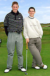 Neil Tobin and Brendan Walton at the Junior Open Day in Laytown and Bettystown Golf Club..Picture: Paul Mohan/Newsfile
