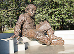 Washington DC; USA: Albert Einstein sculpture on the National Mall.Photo copyright Lee Foster Photo # 13-washdc76086