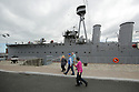 Visitors arrive to tour HMS Caroline, Wednesday July 3rd, 2019. (Photo by Paul McErlane for the Belfast Telegraph)