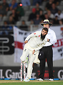 22nd March 2018, Eden Park, Auckland, New Zealand; International Test Cricket, New Zealand versus England, day 1;  Moeen Ali bowling