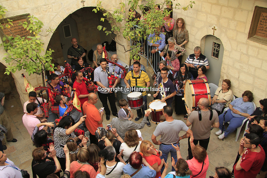 Jerusalem, Maundy Thursday is celebrated at the Syrian Orthodox St. Mark's Church
