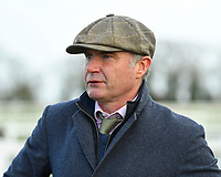 Trainer Chris Gordon during Horse Racing at Plumpton Racecourse on 10th February 2020
