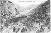 View of Ophir Loop showing three of the RGS High Line bridges.<br /> RGS  Ophir Loop, CO  Taken by Byers, Joseph E. - ca. 1895
