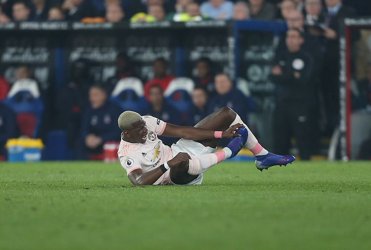 Manchester United's Paul Pogba<br /> <br /> Photographer Rob Newell/CameraSport<br /> <br /> The Premier League - Wednesday 27th February 2019  - Crystal Palace v Manchester United - Selhurst Park - London<br /> <br /> World Copyright © 2019 CameraSport. All rights reserved. 43 Linden Ave. Countesthorpe. Leicester. England. LE8 5PG - Tel: +44 (0) 116 277 4147 - admin@camerasport.com - www.camerasport.com
