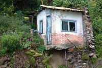 Cliff house, ruin, Vernazza, Cinque Terra, Italy