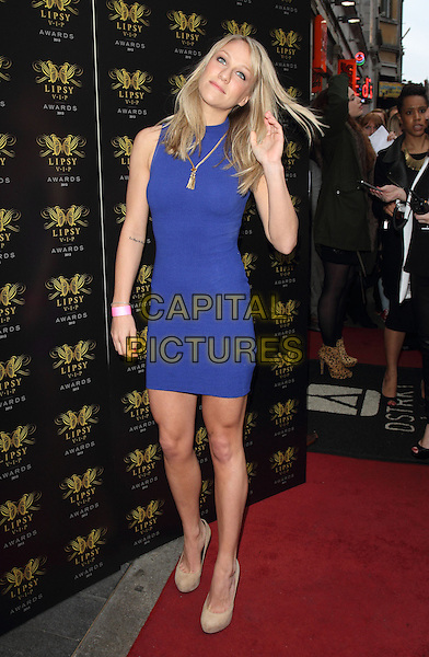 Chloe Madeley<br /> Lipsy VIP Fashion Awards at DSTRKT, London, England.<br /> May 29th 2013<br /> full length blue sleeveless dress hair flicking <br /> CAP/ROS<br /> &copy;Steve Ross/Capital Pictures