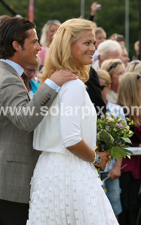 **ALL ROUND PICTURES FROM SOLARPIX.COM**.**SYNDICATION RIGHTS FOR UK AND SPAIN ONLY**.Crown Princess Victoria of Sweden celebrates her 32nd birthday with fiance Daniel Westling and parents Queen Silvia and King Carl Gustaf of Sweden at Solliden Palace on the island of Oeland, southern Sweden. 14 July 2009..This pic: Madeleine of Sweden..JOB REF: 9494 CPR (Kongsted) DATE: 14_07_2009.**MUST CREDIT SOLARPIX.COM OR DOUBLE FEE WILL BE CHARGED**.**ONLINE USAGE FEE GBP 50.00 PER PICTURE - NOTIFICATION OF USAGE TO PHOTO @ SOLARPIX.COM**.**CALL SOLARPIX : +34 952 811 768 or LOW RATE FROM UK 0844 617 7637**