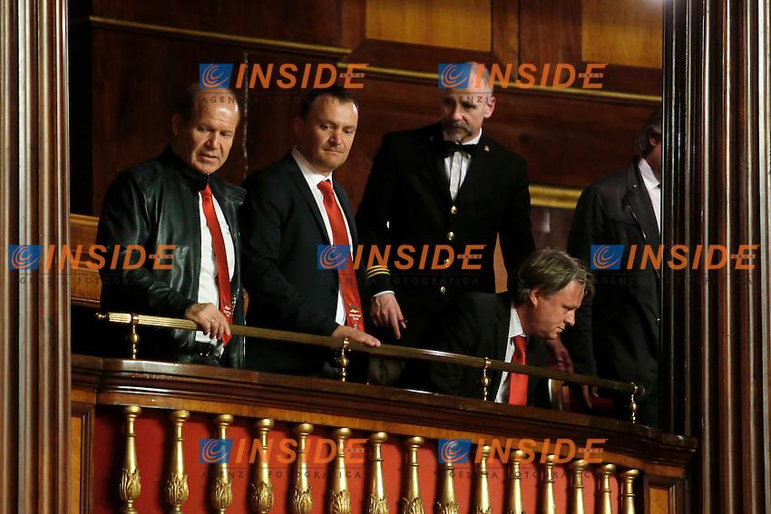 Roma 19-04-2016 Senato. Mozione di sfiducia al Governo da parte del Movimento 5 Stelle, della Lega Nord  di Forza Italia.<br /> Photo Samantha Zucchi Insidefoto