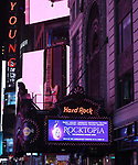 """Marquee for the Broadway Opening Night Performance After Party of  """"Rocktopia"""" at The Hard Rock Cafe on March 27, 2018 in New York City."""