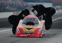 Aug. 31, 2012; Claremont, IN, USA: NHRA funny car driver Jim Head during qualifying for the US Nationals at Lucas Oil Raceway. Mandatory Credit: Mark Rebilas-