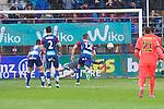 Football match during La Liga between the teams Eibar and Barça<br /> barça's goal (penalty)<br /> PHOTOCALL3000 / DyD