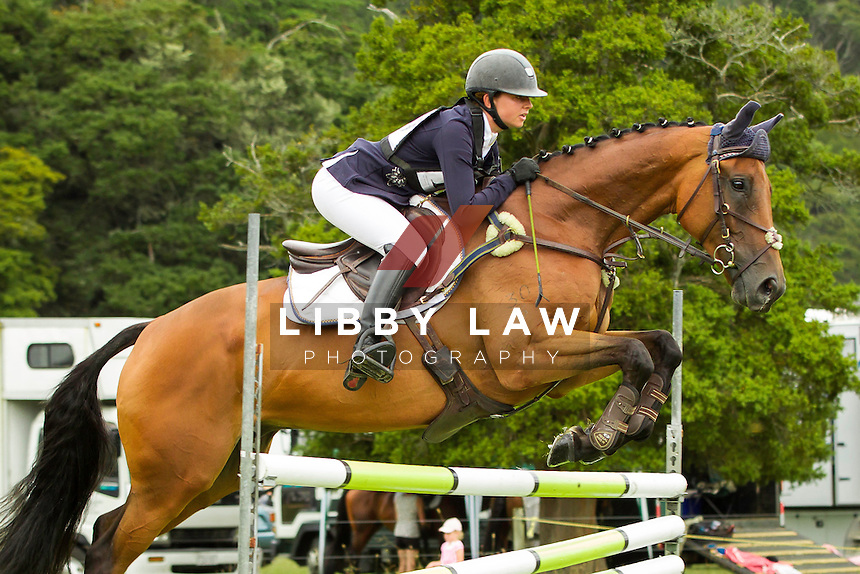 NZL-Samantha Felton (RICKER RIDGE ESCADA)  INTERIM-6TH: THOMPSON ELECTRICAL CNC2*: 2014 NZL-Troy Wheeler Contracting Springbush Horse Trial (Saturday 15 February) CREDIT: Libby Law COPYRIGHT: LIBBY LAW PHOTOGRAPHY - NZL