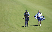Pablo Larrazabal (ESP) and caddie head down the 8th during Round Two of the 2015 Nordea Masters at the PGA Sweden National, Bara, Malmo, Sweden. 05/06/2015. Picture David Lloyd | www.golffile.ie