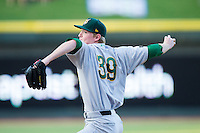 Lynchburg Hillcats starting pitcher Wes Parsons (39) delivers a pitch to the plate against the Winston-Salem Dash at BB&T Ballpark on August 13, 2014 in Winston-Salem, North Carolina.  The Hillcats defeated the Dash 4-3.   (Brian Westerholt/Four Seam Images)