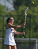Syosset No. 7 Katelyn Igneri makes a pass during the second half of a Nassau County varsity girls' lacrosse semifinal against Oceanside at Adelphi University on Tuesday, May 19, 2015. Syosset won by a score of 12-2.<br /> <br /> James Escher