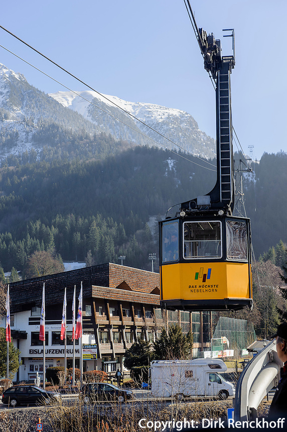 Seilbahn auf das Nebelhorn bei  Oberstdorf im Allg&auml;u, Bayern, Deutschland<br /> cable car onto Mt.Nebelhorn near Oberstdorf, Allg&auml;u, Bavaria, Germany