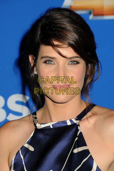 COBIE SMULDERS.Fall 2010 Season Premiere held at The Colony, Hollywood, California, USA..September 16th, 2010.headshot portrait black blue white print hlalterneck .CAP/ADM/BP.©Byron Purvis/AdMedia/Capital Pictures.