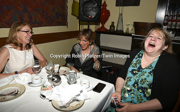 Barbara, Helene Young and Carol Sulcoski attend the Big Apple Knitters Guild 25th Annual Luncheon Gala on September 24, 2016 at Kellari Taverna in New York City, New York, USA. <br /> <br /> photo by Robin Platzer/Twin Images<br />  <br /> phone number 212-935-0770
