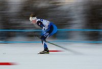 Competitors in the Junior Male 10K Classic sprint to the finish during the 2018 U.S. National Cross Country Ski Championships at Kincaid Park in Anchorage.during the 2018 U.S. National Cross Country Ski Championships at Kincaid Park in Anchorage.