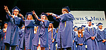 Torrington, CT 062117MK06 members of the class of 2017 American sign language students sign the words to  'The Star Bangled Banner' during the Lewis Mills High School commencement exercises at the Warner Theatre in Torrington on Wednesday night. Michael Kabelka / Republican-American