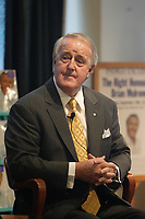 September 18, 2007 File Photo - <br /> <br /> The Right Honourable Brian Mulroney (R)<br /> Join<br /> Indigo's CEO and Chief Booklover, Heather Reisman (L) for an intimate interviewat Indigo/Chapters store On Ste-Catherine Street West in Montreal. He signed copies of his autopbiography shortly after the interview<br /> <br /> photo : (c) Pierre Roussel -   Images Distribution