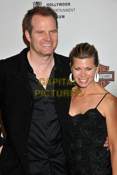 "JACK COLEMAN & BETH TOUSSAINT .Hollywood Entertainment Museum Honors The Cast Of NBC's ""Heroes"" at the Hollywood Legacy Awards XI at the Esquire House Hollywood Hills, Hollywood, California, USA,.1st November 2008..half length black shirt jacket married husband wife  .CAP/ADM/BP.©Byron Purvis/Admedia/Capital PIctures"
