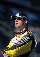 Feb 10, 2008; Daytona Beach, FL, USA; Nascar Sprint Cup Series driver Paul Menard (15) during qualifying for the Daytona 500 at Daytona International Speedway. Mandatory Credit: Mark J. Rebilas-US PRESSWIRE