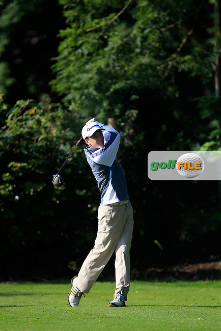 Andrew Gavin (Blackbush) on the 7th tee during Round 2 of the Ulster U16 Boys Open at Dungannon Golf Club on Thursday 13th August 2015.<br /> Picture:  Thos Caffrey / www.golffile.ie