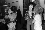 Blitz Kids New Romantics at The Blitz Club Covent Garden, London, England 1980. The couple of girls kissing  Kim Bowen ( wearing a velvet hat by Stephen Jones ) and Julia Fodor (later known as Princess Julia)  and the skinny Jeremy Healy chats with (soon-to-be deejay) Jeffrey Hinton.<br /> <br /> 16x12 PARIS 2015 LES DOUCHES LA GALERIE <br /> <br /> <br /> THIS ARE MEDIUM RES FILES ONLY FOR REFERENCE AND SHOULD NOT BE SENT OUT THEY OPEN AT 11MGB