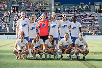 Seattle, Washington - Saturday, July 2nd, 2016:  Boston Breakers starting IX prior to a regular season National Women's Soccer League (NWSL) match between the Seattle Reign FC and the Boston Breakers at Memorial Stadium. Seattle won 2-0.