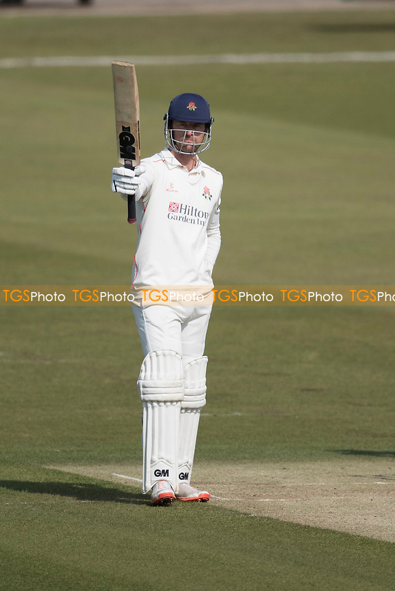 Dane Vilas of Lancashire CCC celebrates his half century during Middlesex CCC vs Lancashire CCC, Specsavers County Championship Division 2 Cricket at Lord's Cricket Ground on 13th April 2019