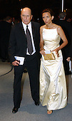 Robert Duval and Luciana Pedrasa arrive for the party hosted by Bloomberg News following the 2003 White House Correspondents Dinner in Washington, DC on April 26, 2003..Credit: Ron Sachs / CNP