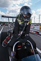 Mar 15, 2019; Gainesville, FL, USA; NHRA top alcohol dragster driver Jasmine Salinas during qualifying for the Gatornationals at Gainesville Raceway. Mandatory Credit: Mark J. Rebilas-USA TODAY Sports