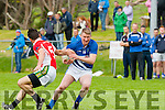 Mike Frank Russell Laune Rangers turns Gavin O Conchúir west Kerry during their County SFC round 1 game in Killorglin on Sunday