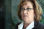 Nevada Assemblywoman Debbie Smith, D-Sparks, talks Tuesday, May 24, 2011, at the Legislature in Carson City, Nev. .Photo by Cathleen Allison