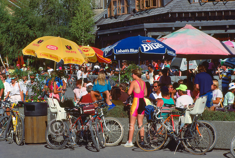 Summer Activities at Whistler Village Square, Whistler Resort, BC, British Columbia, Canada, Summer