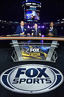 """BROOKLYN, NY - DECEMBER 22:  Sports commentators Chris Myers, Ray Mancini and Lennox Lewis attend the Fox Sports and Premier Boxing Champions  December 22 """"PBC on Fox"""" Fight Night at the Barclays Center on December 22, 2018 in Brooklyn, New York. (Photo by Anthony Behar/Fox Sports/PictureGroup)"""