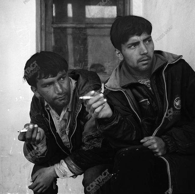 Hussein (l.) and Reza (r.) in front of the Mental Health Hospital. Kabul, Afghanistan. March 2006