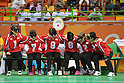 (L-R) Haruka Wakasugi, Yuki Tenma, Masae Komiya, Akiko Adachi, Eiko Kakehata, Rie Urata (JPN), <br /> SEPTEMBER 14, 2016 - Goalball : <br /> Quarter Final match between China 5-3 Japan <br /> at Future Arena<br /> during the Rio 2016 Paralympic Games in Rio de Janeiro, Brazil.<br /> (Photo by AFLO SPORT)